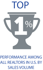 Top 1% Performance Among All Realtors in U.S. by Sales Volume