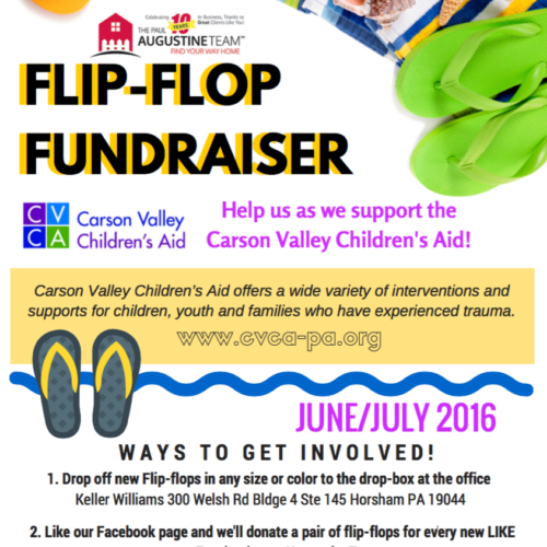 We had so much fun collecting flip flops for the Carson Valley Children's Aid!